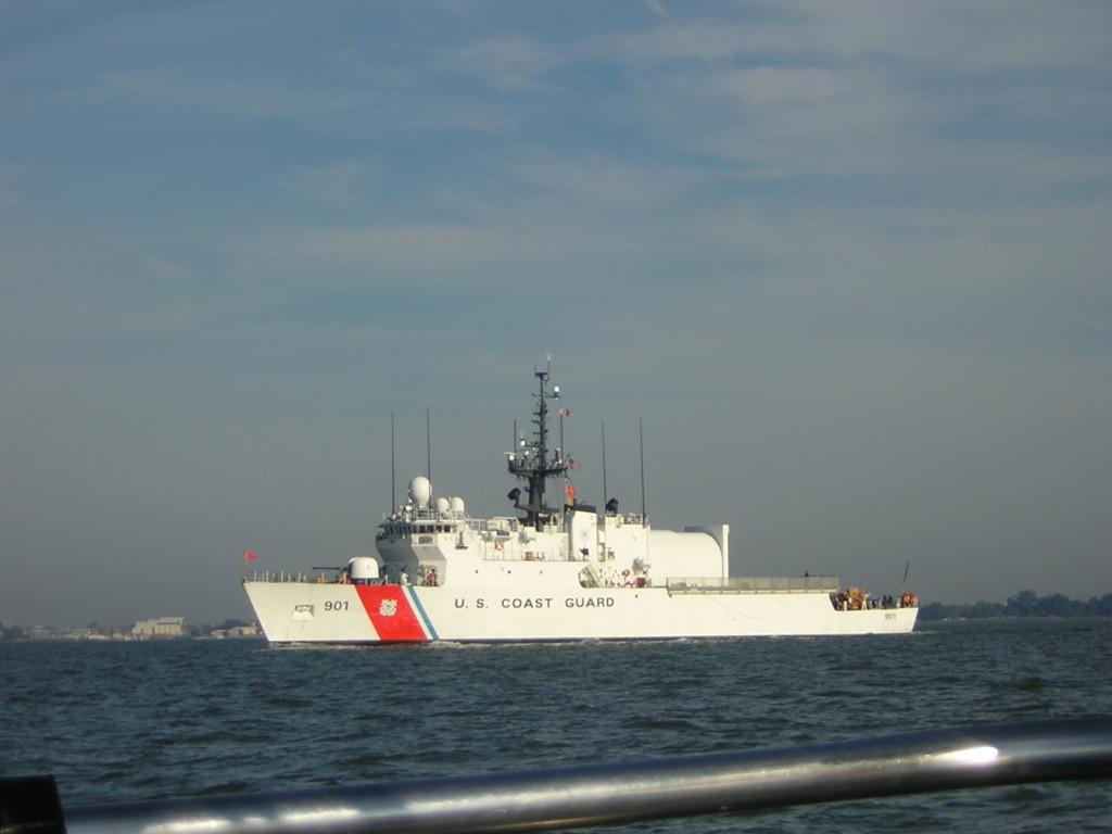 U.S. Coast Guard Ship in Elizabeth River