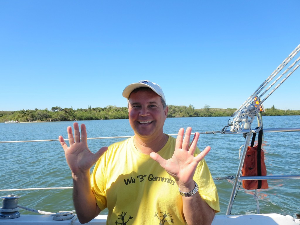 We have traveled 1,000 miles on the ICW. Note the color of the water.